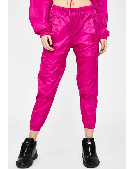 Fuchsia Storm Warning Windbreaker Pants