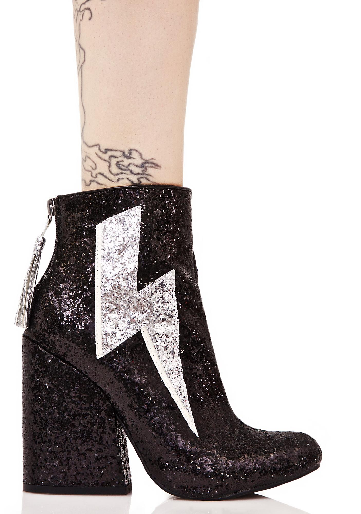 Y.R.U. Ziggy Sparkle Lightning Boots