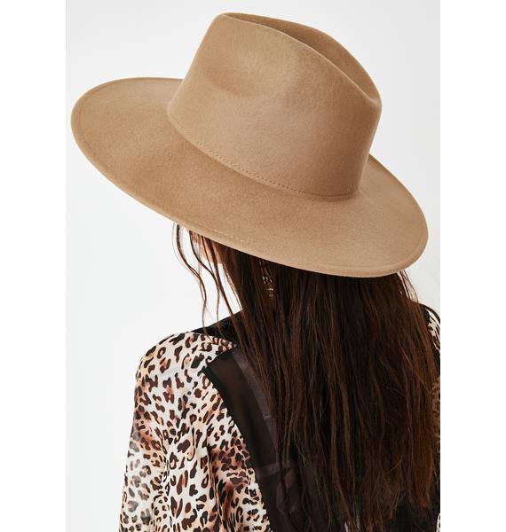 Camel Cast Spells Wide Brim Hat