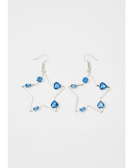 Star Bright Drop Earrings