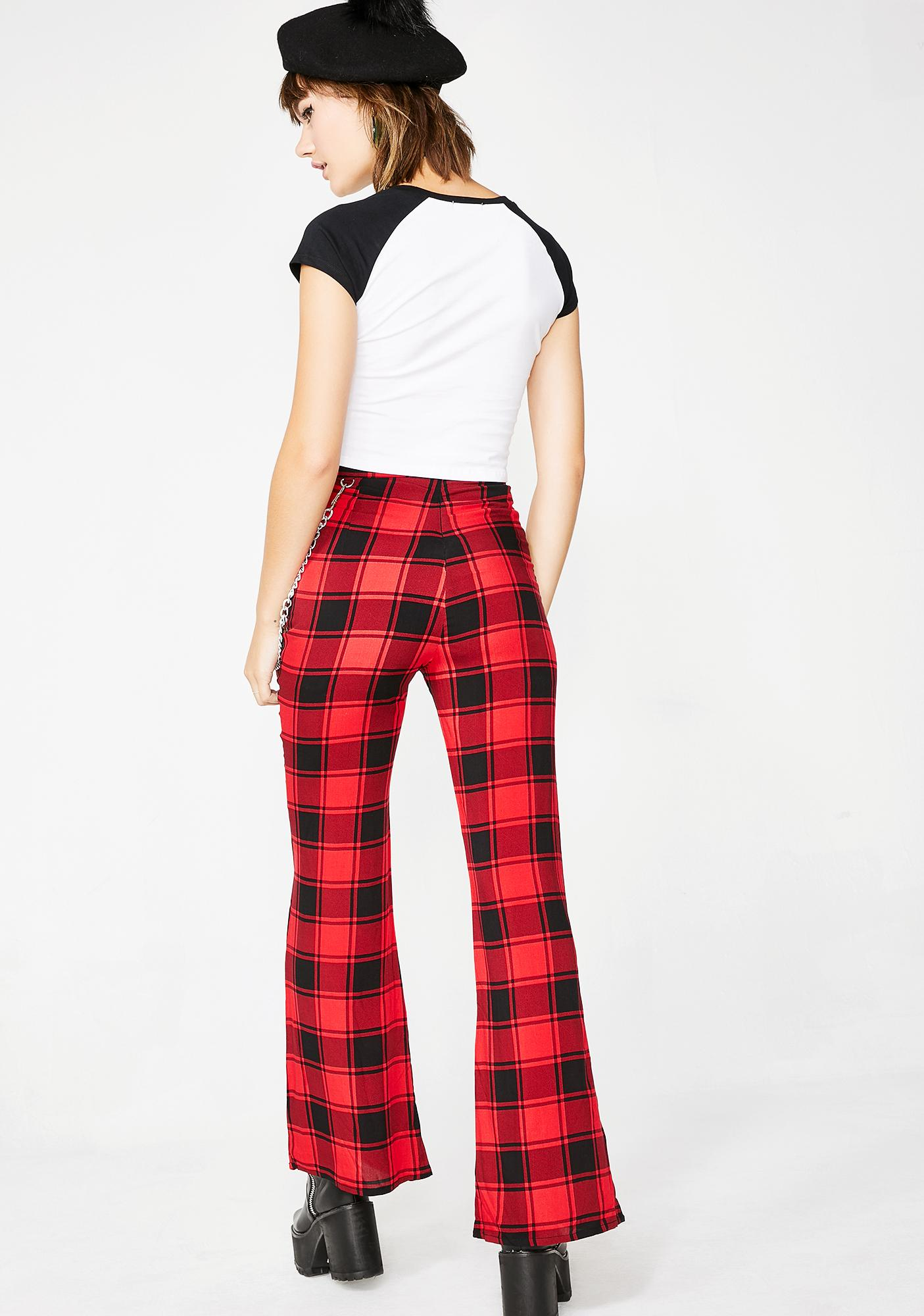 Current Mood After Hourz Plaid Pants