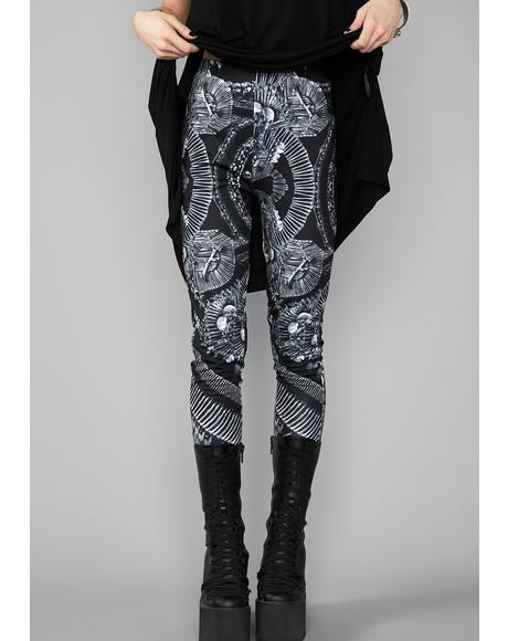 Catacomb Crypt Printed Leggings