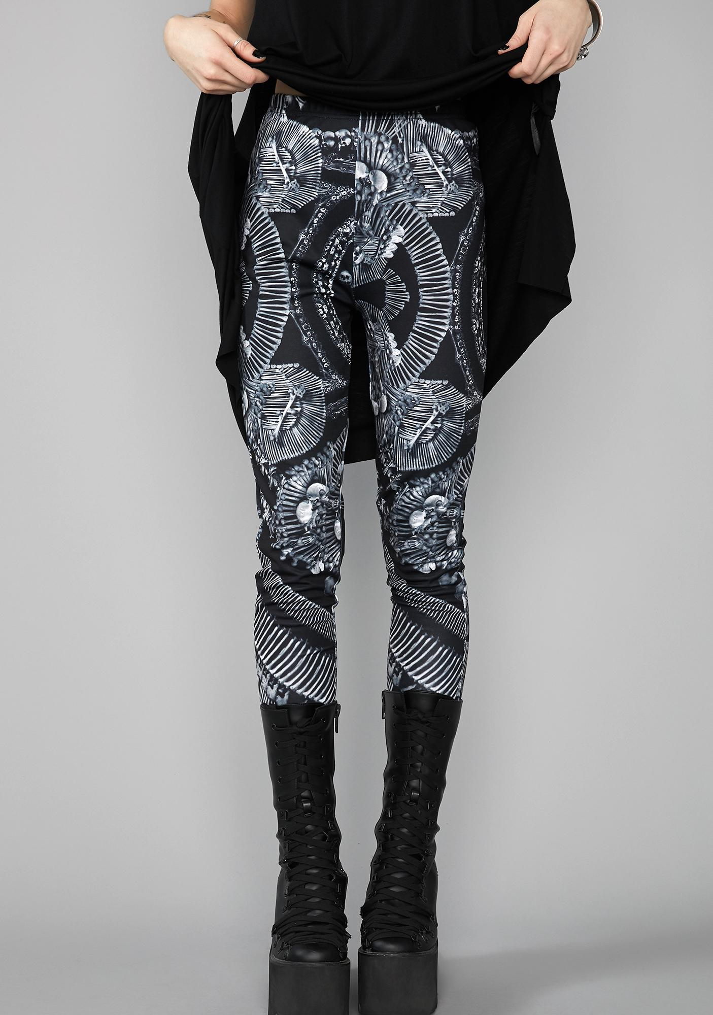 Widow Catacomb Crypt Printed Leggings