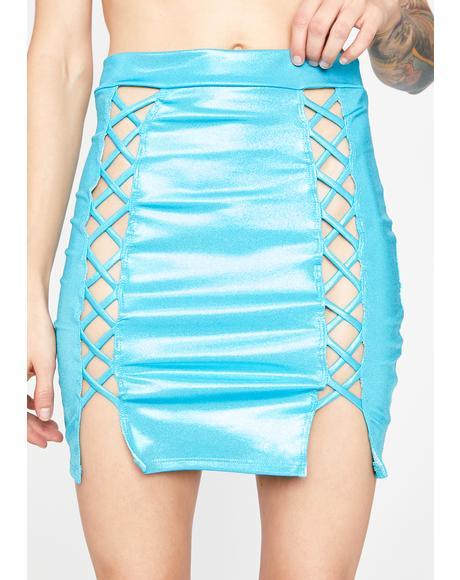 Aqua Electric Lust Mini Skirt