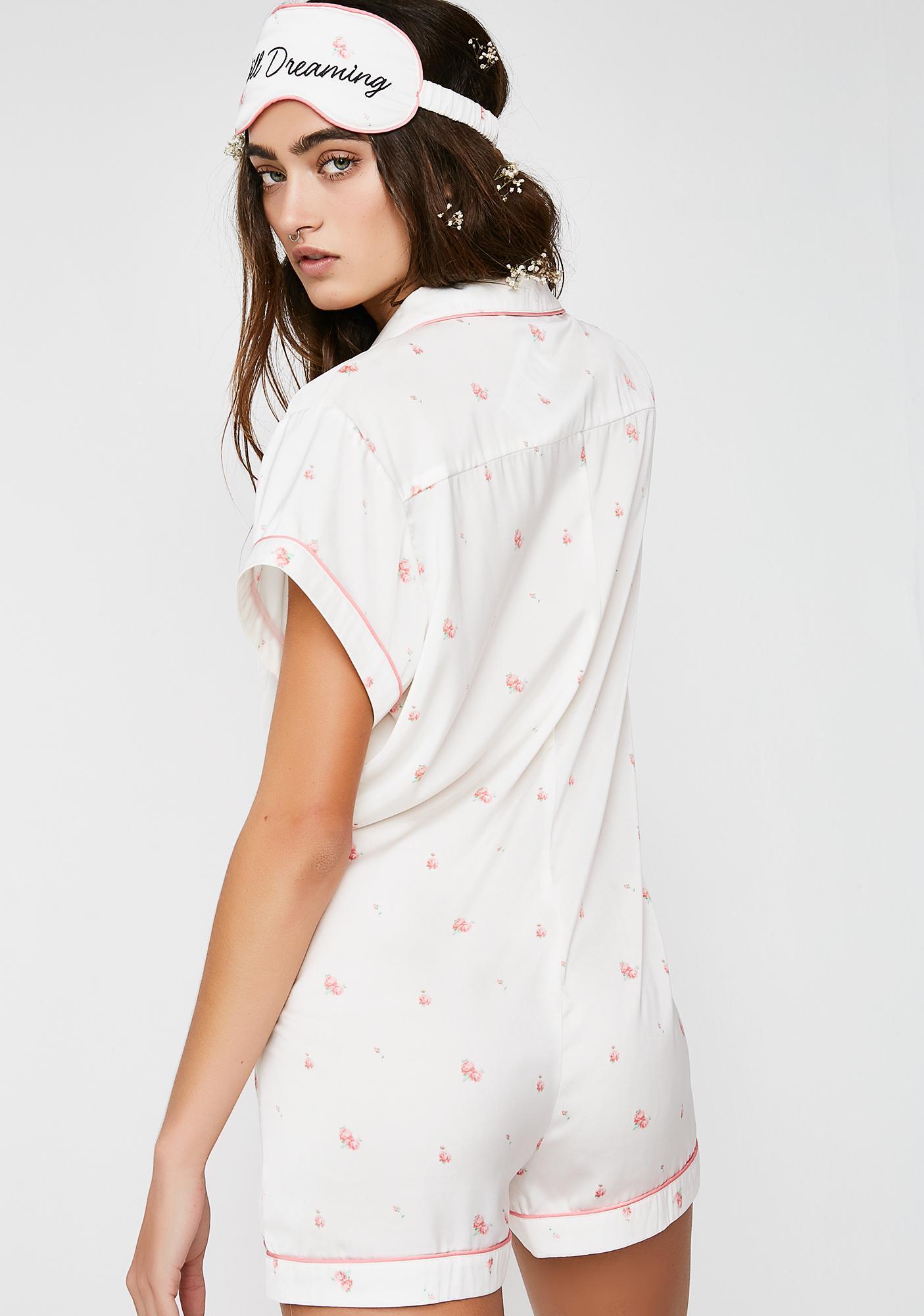 Wildfox Couture Rosebud Wallpaper Keller Romper