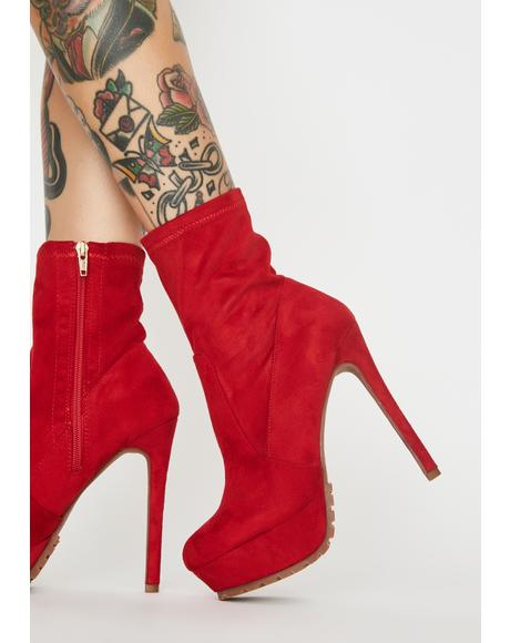 Fire Hot Tempered Platform Booties