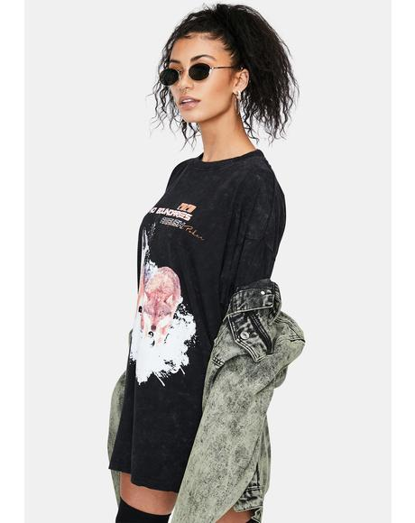No Boundaries Oversized Graphic Tee