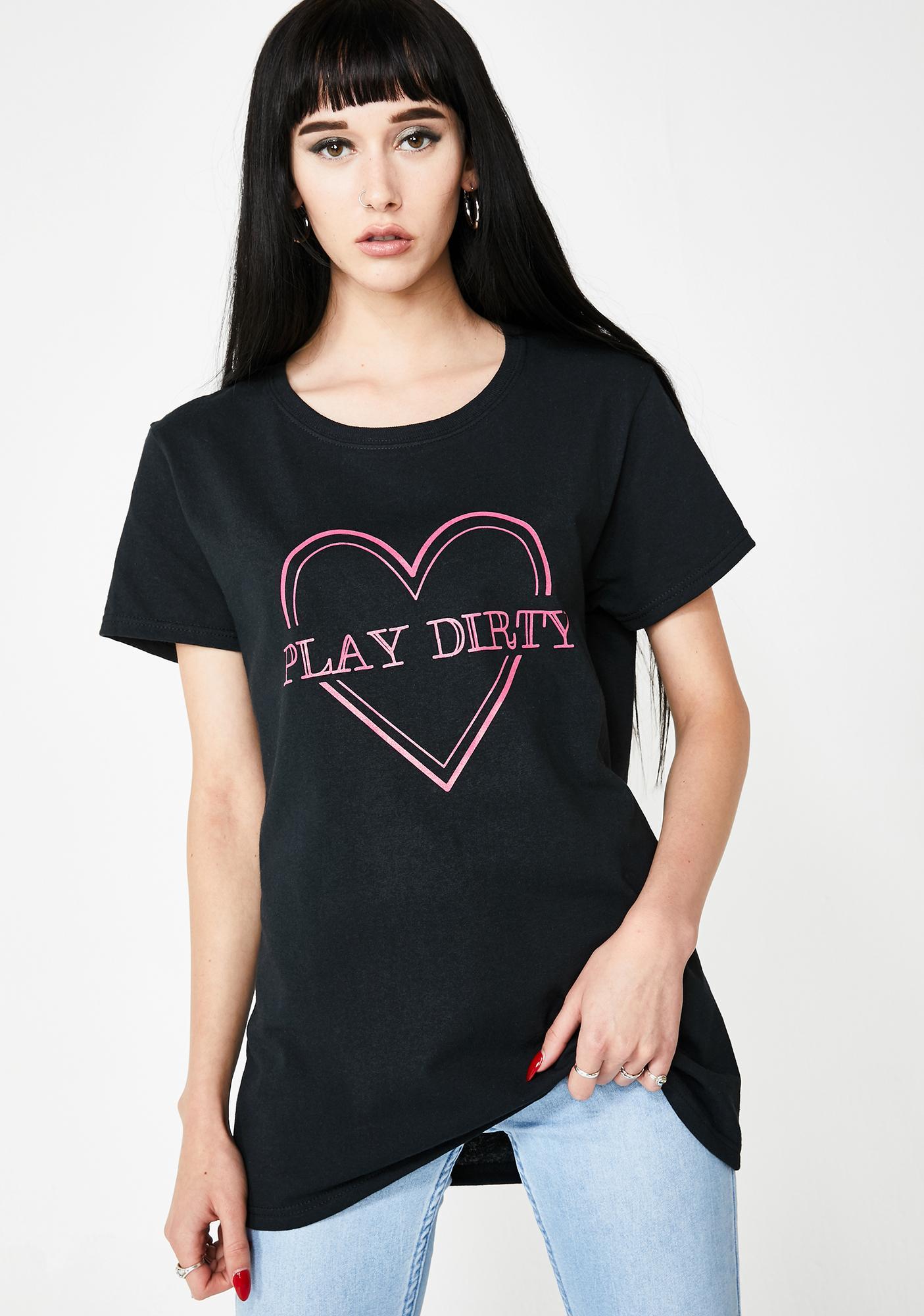 Daisy Street Play Dirty Graphic Tee