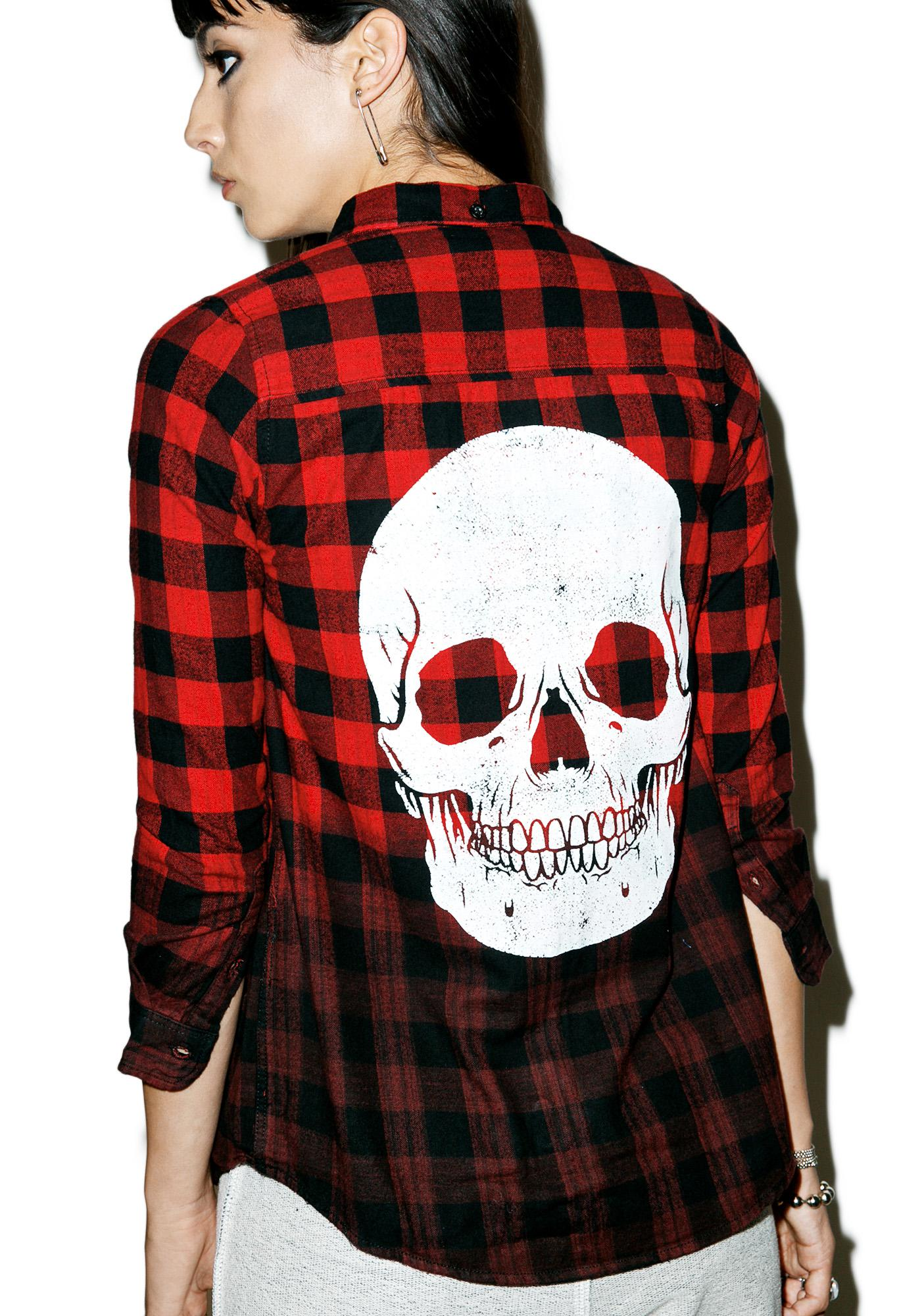 Iron Fist Skullz Flannel
