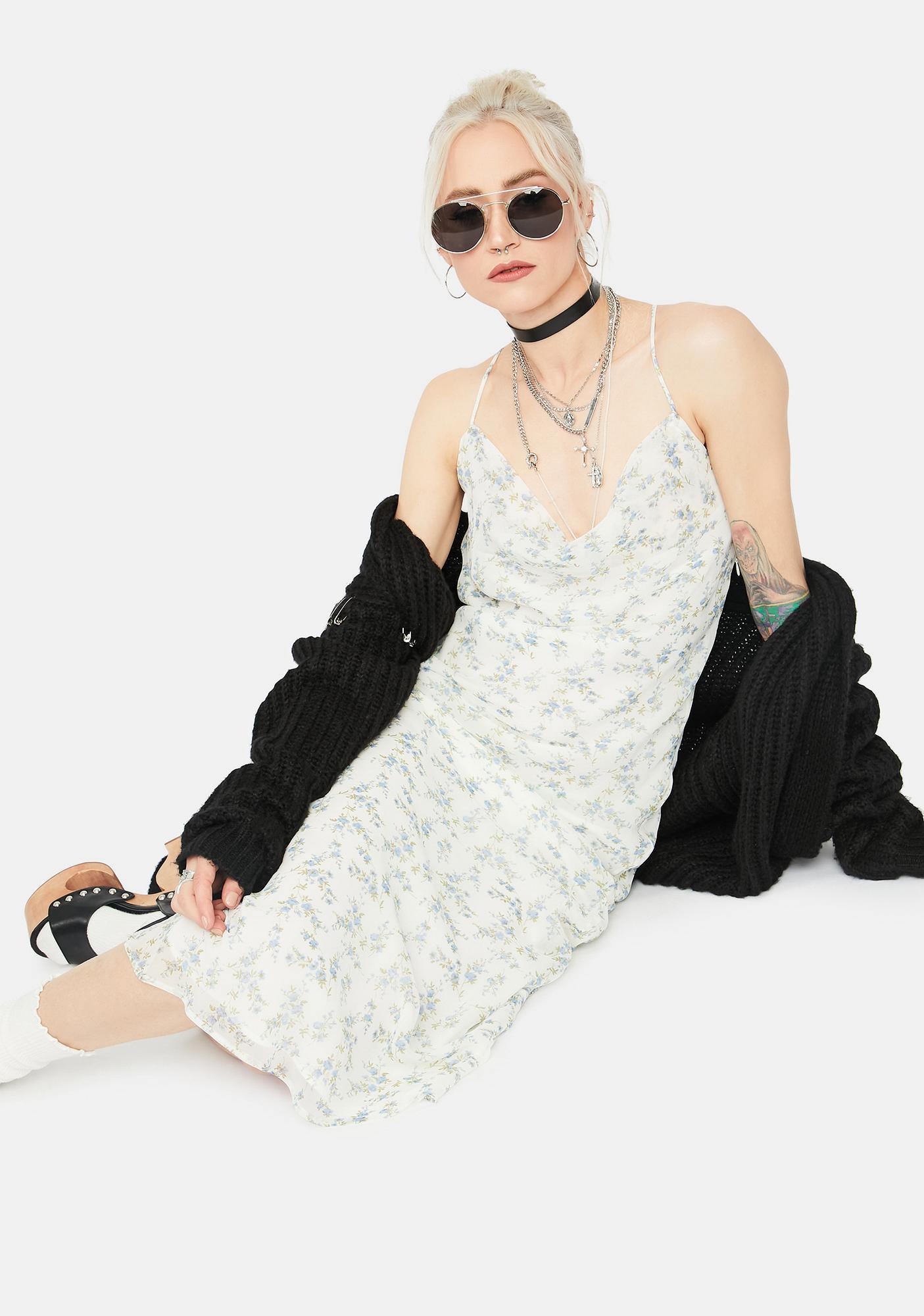 Angel Major Crush Floral Cowl Neck Maxi Dress
