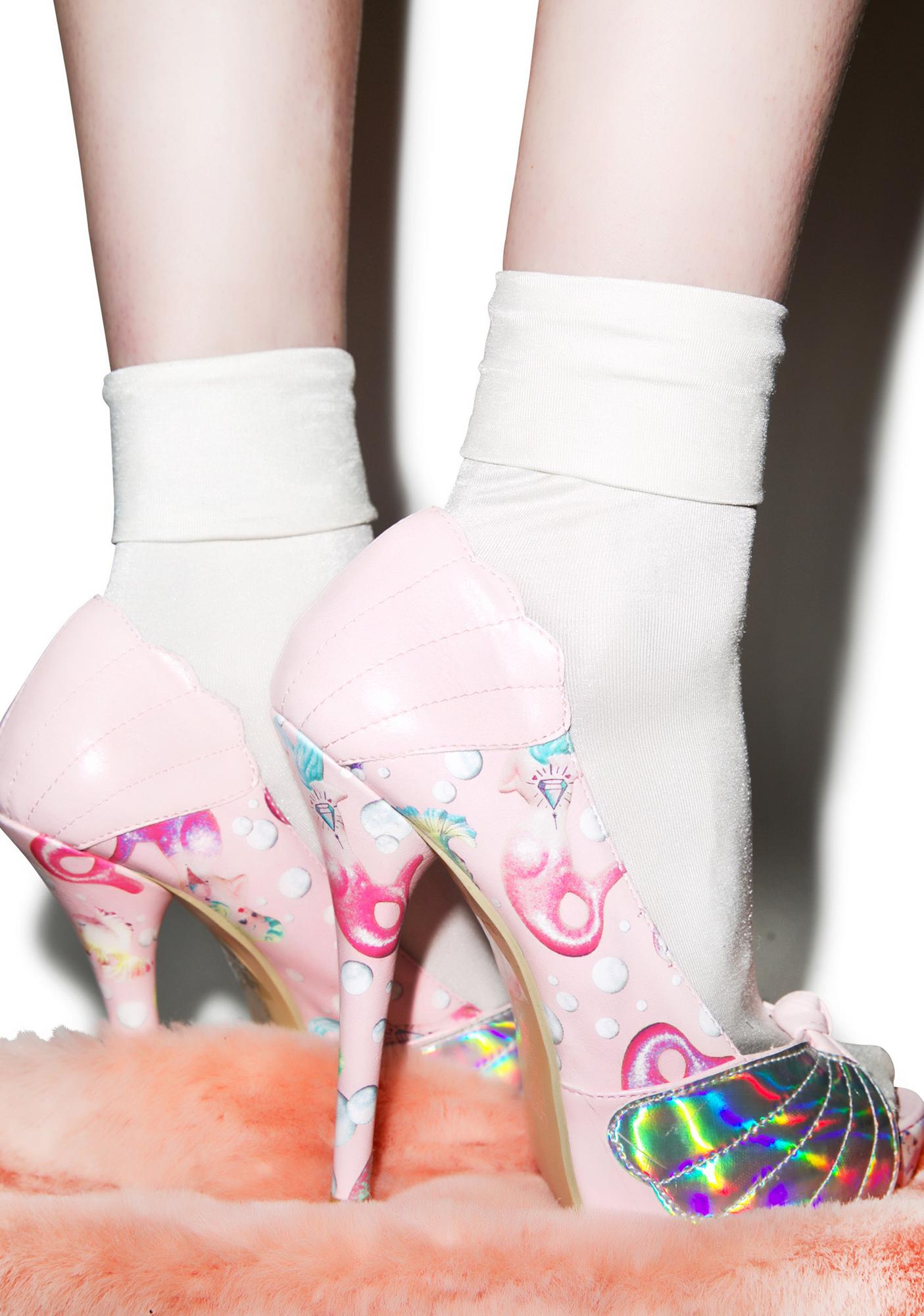 Iron Fist Lollipop Lorelei Shell Peep Toe Platform Heels