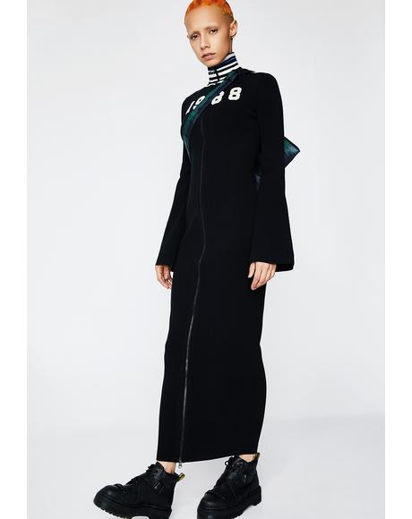 FENTY PUMA By Rihanna Zip-Up Sweater Maxi Dress