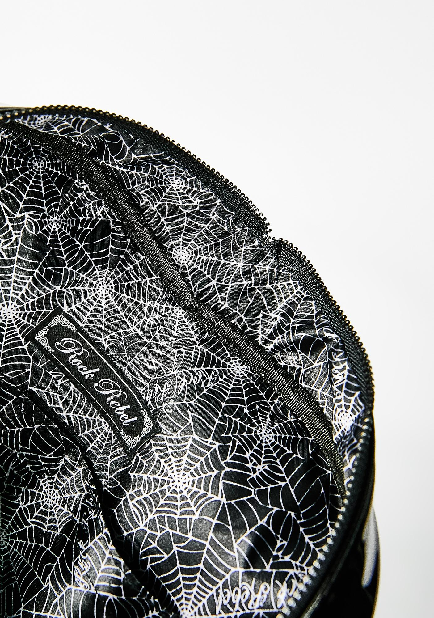 Rock Rebel Lily Heart Purse Backpack