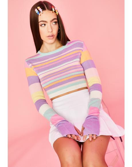 Pick Ur Pleasure Crop Sweater