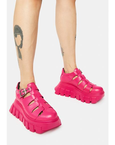 Pink Savour Chunky Sneakers