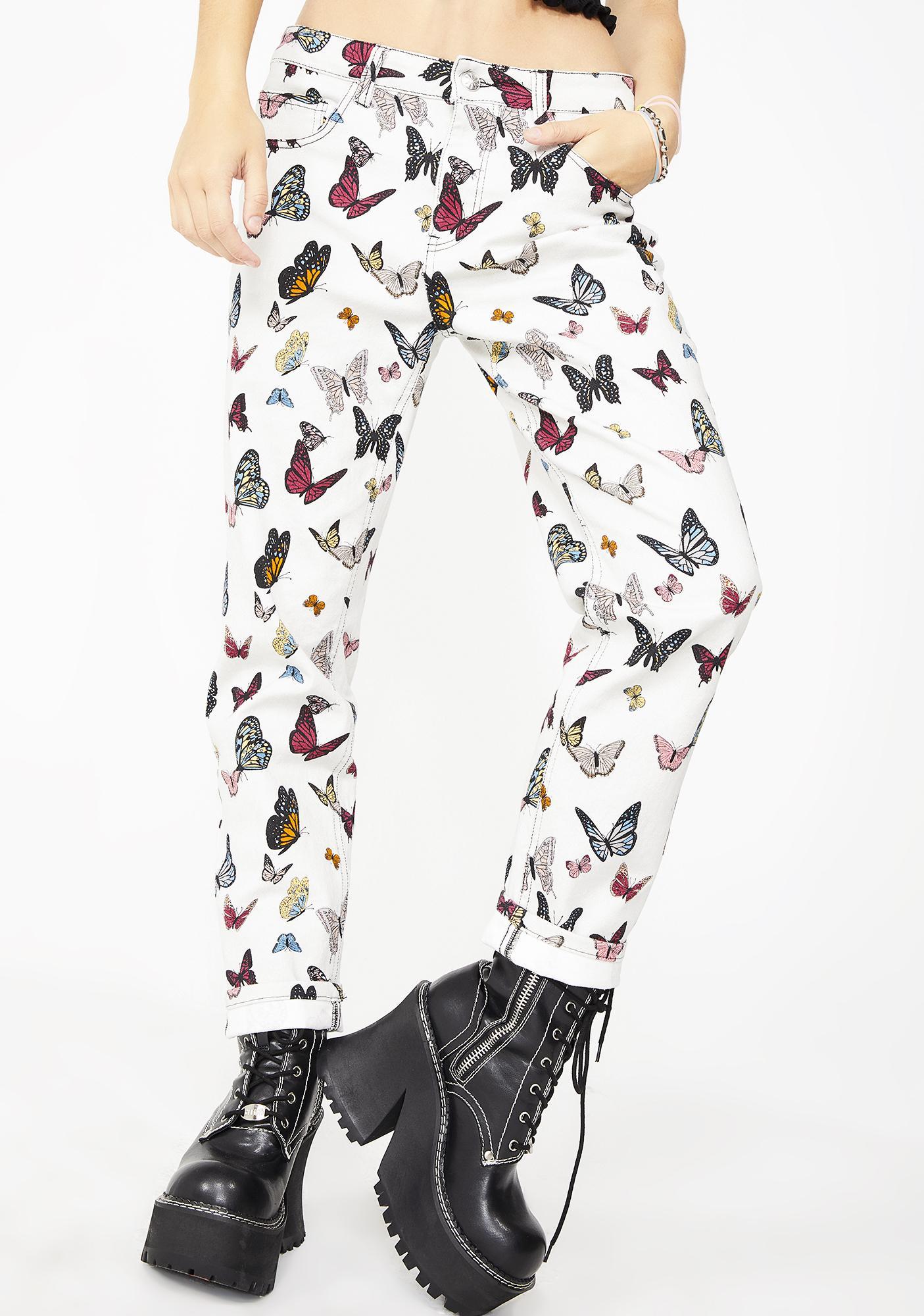 5d644c909d93 dELiA s by Dolls Kill Miss Monarch Butterfly Jeans