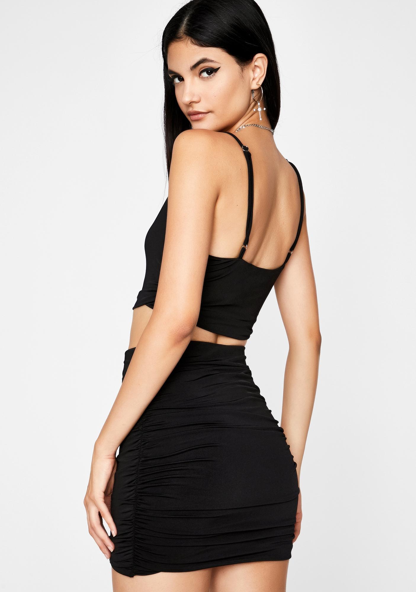 Sinful Cash Code Skirt Set