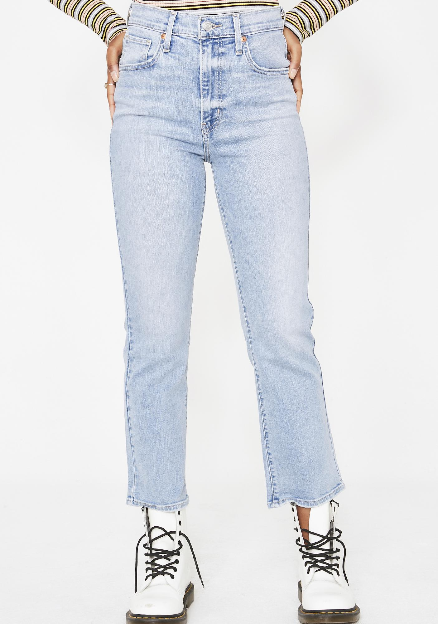 87dcb3ee Levis Mile High Crop Flare Jeans | Dolls Kill