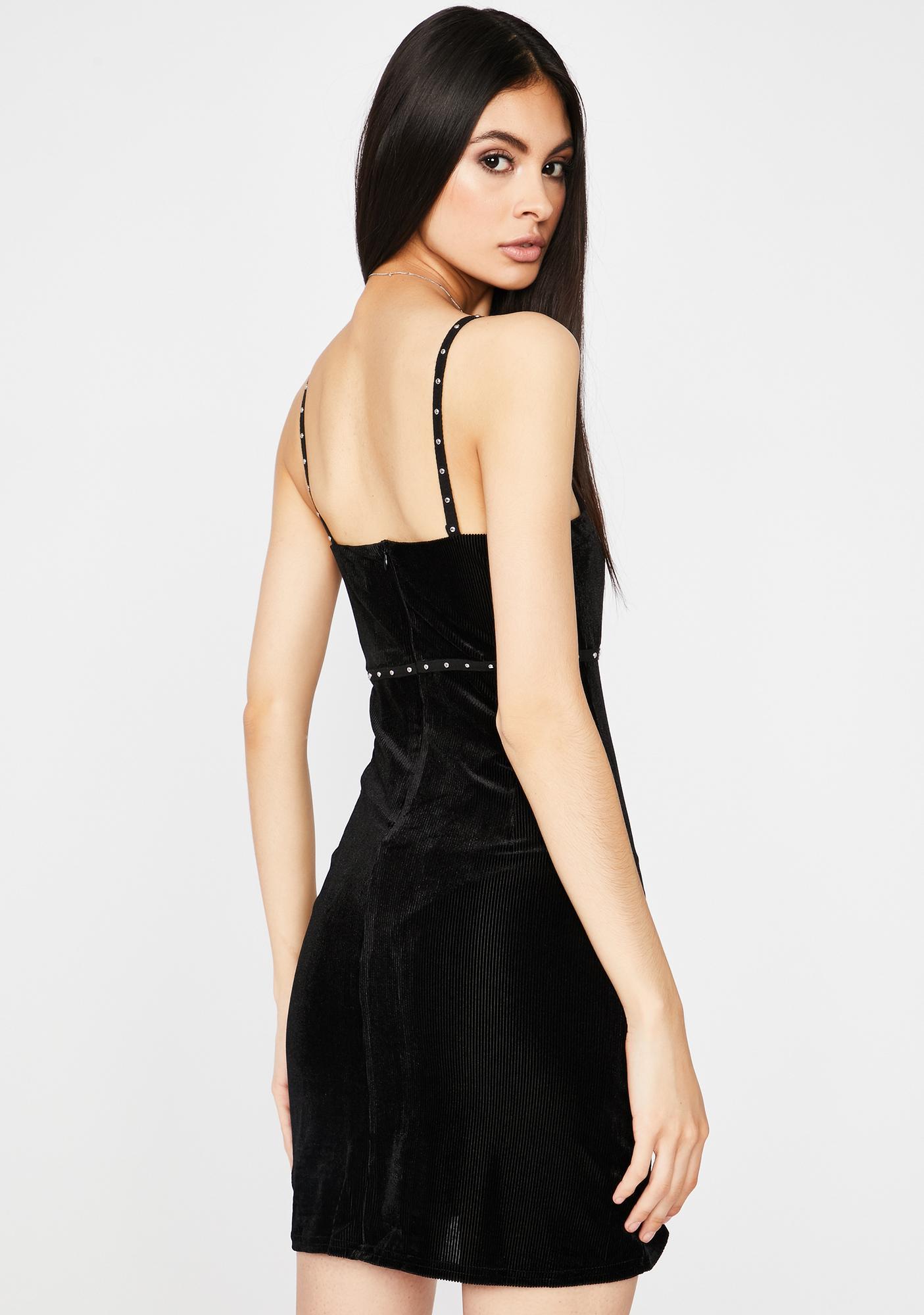 Fashionably Late Studded Dress