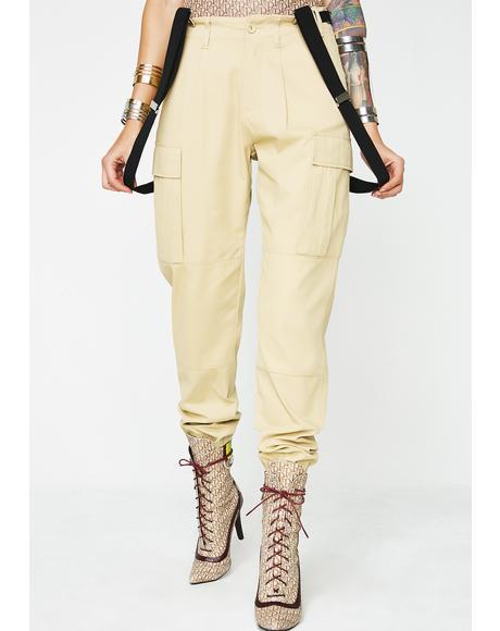 Goal Digger Suspender Cargo Pants