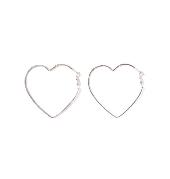 Can't Buy Me Love Hoop Earrings