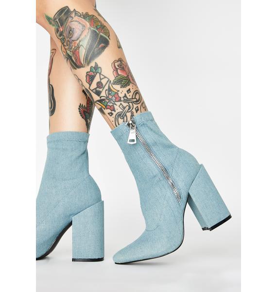 Public Desire Renzo Denim Ankle Boots