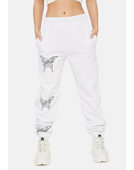 Metallic Butterfly Joggers