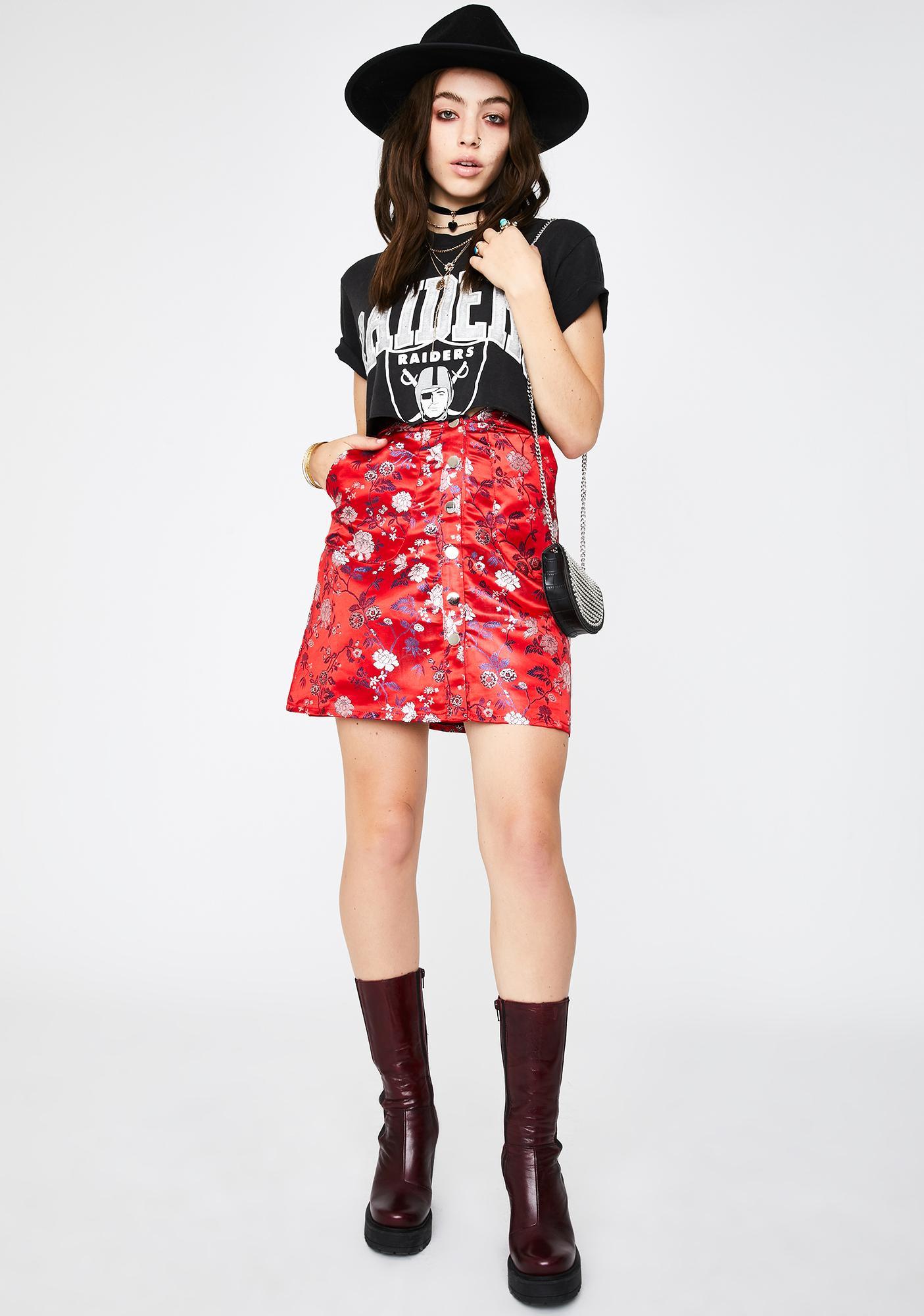 Seven Wonders Satin Print Mini Skirt
