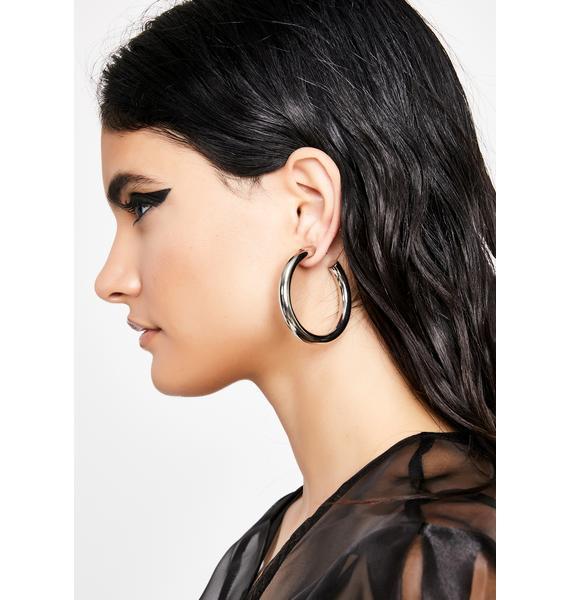 Thick Bish Hoop Earrings
