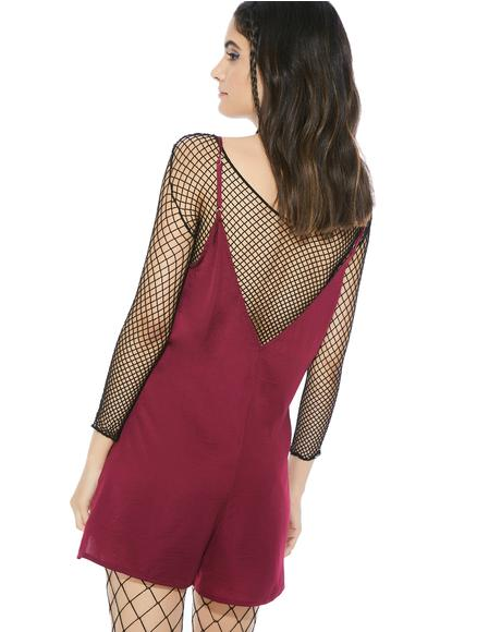 Crimson Heights Romper