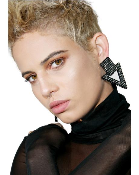 Downfall Oversized Earrings