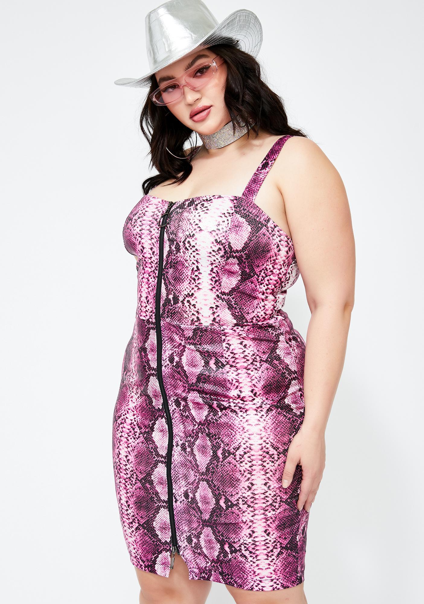 Poisonous Punk Python Mini Dress