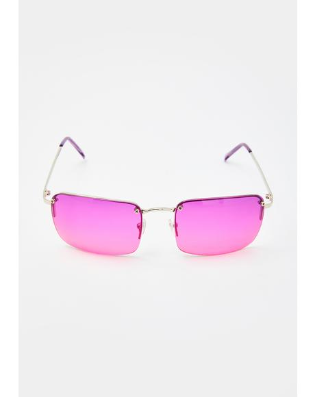 Purple Pink Sweet Fire Tinted Sunglasses