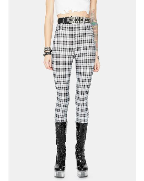 Night Fierce Glory Plaid Skinny Pants