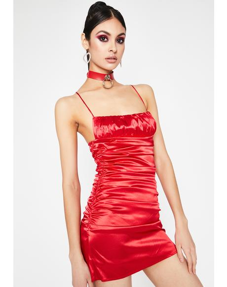 Lover's Embrace Satin Dress