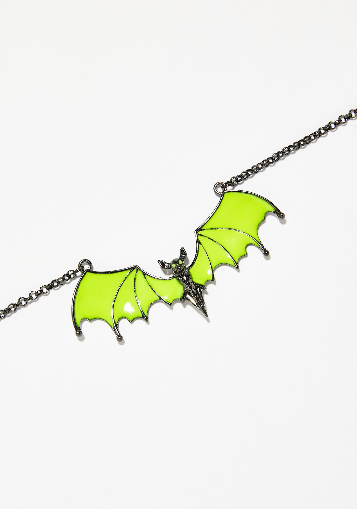Acid Flight Glow In The Dark Necklace