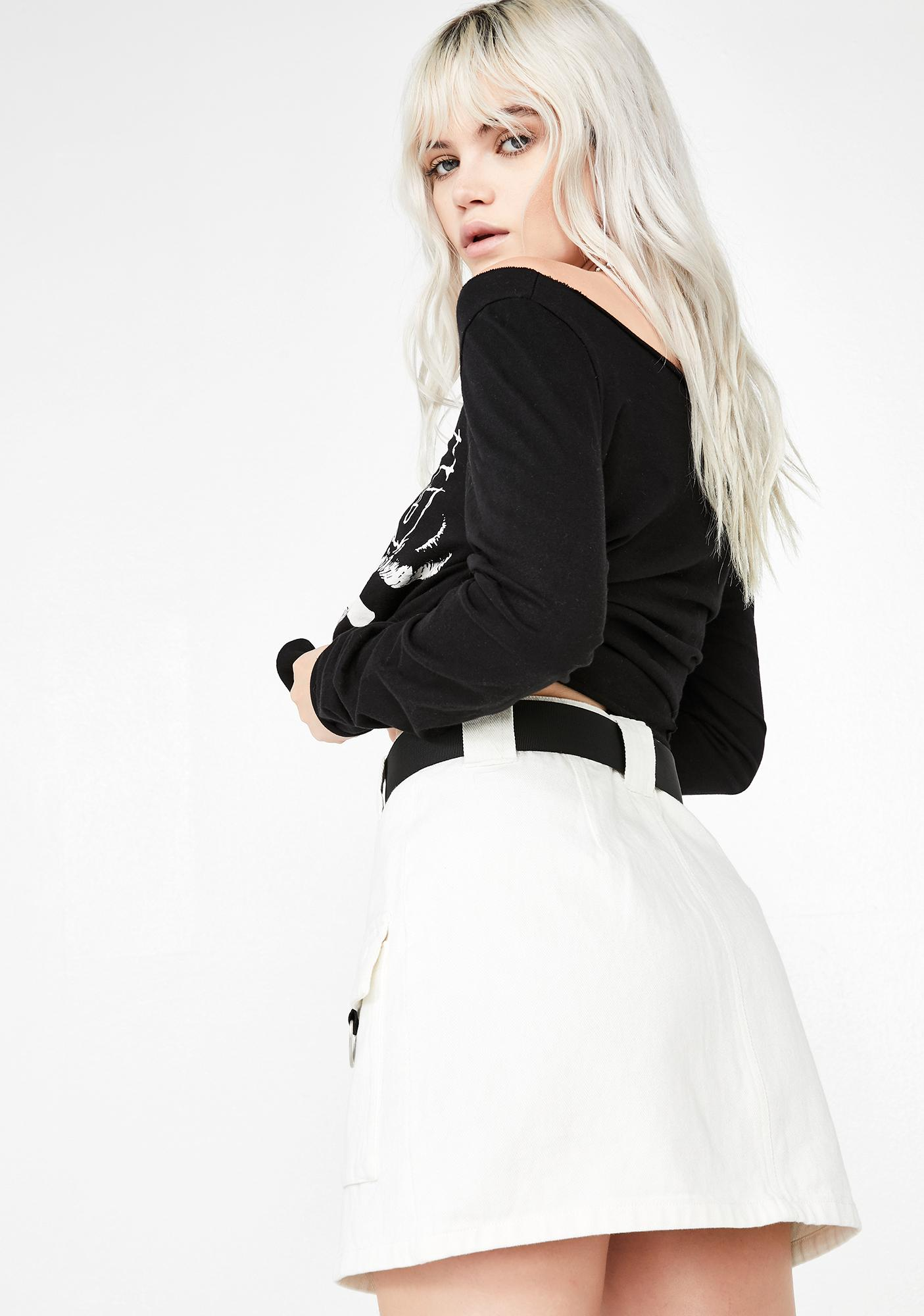 Icy Stop Frontin' Denim Skirt