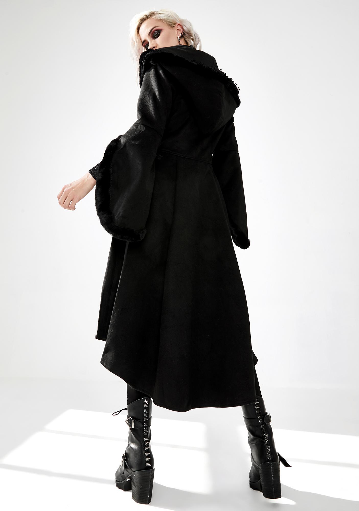 Dark In Love Hooded Woolen Cocktail Coat