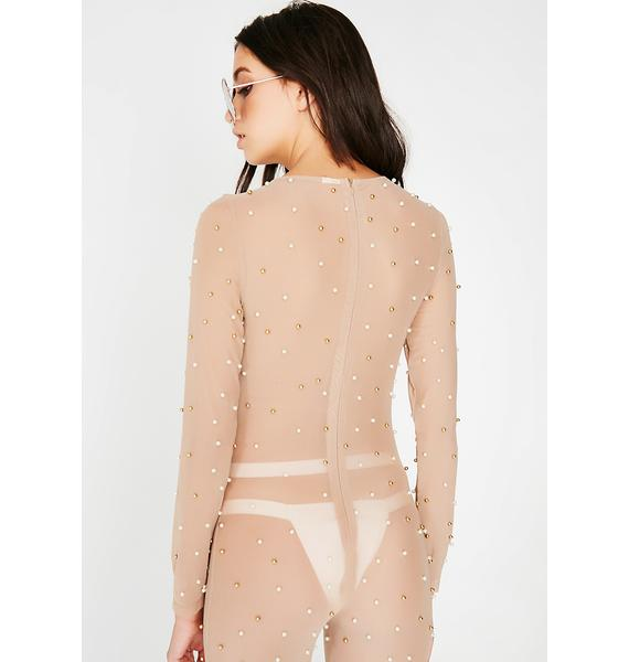 Birthday Suit Sheer Catsuit