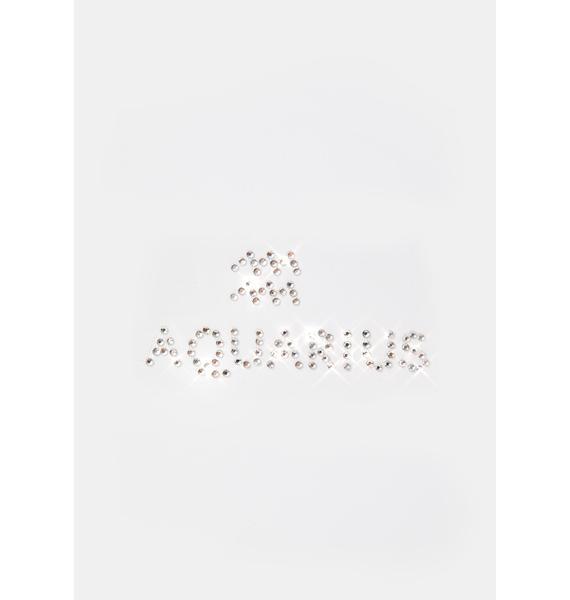 Always Aquarius Face Gems