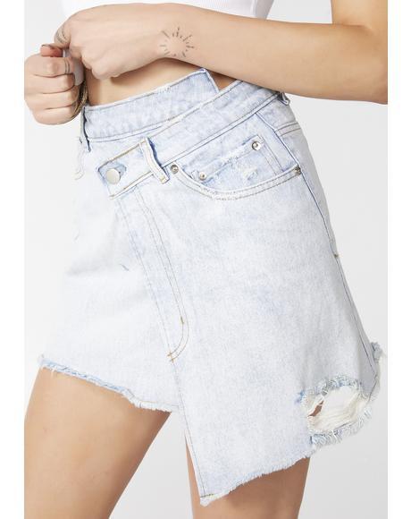 Wrap It Up Denim Skirt