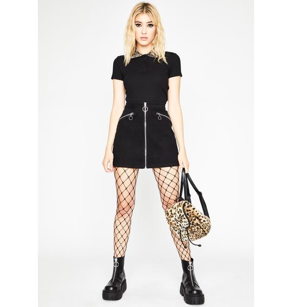 Zip It Loser Mini Skirt