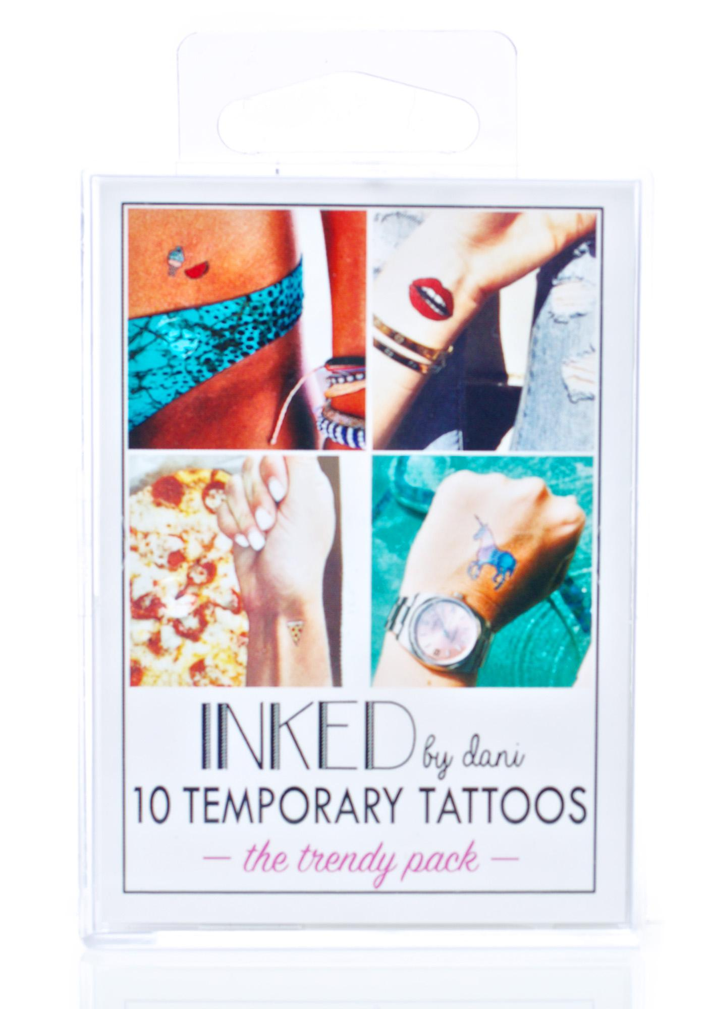 INKED by Dani Trendy Temporary Tattoo Pack