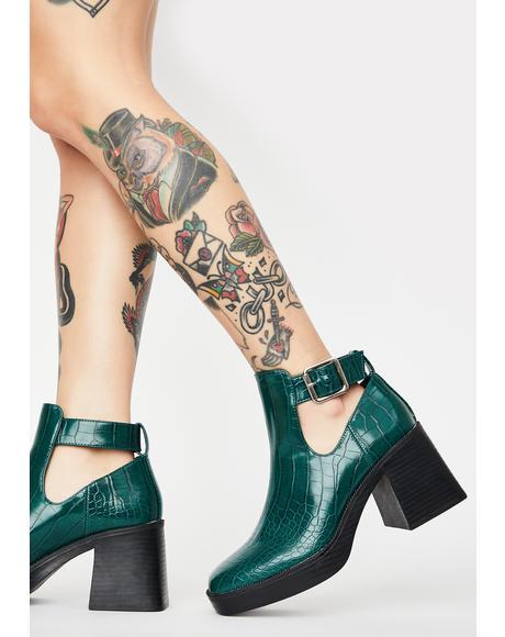 Green Latoya Ankle Boots