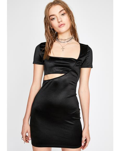 Diabolical Hot Flash Satin Dress