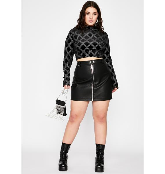 Miss Glam Chaser Crop Top