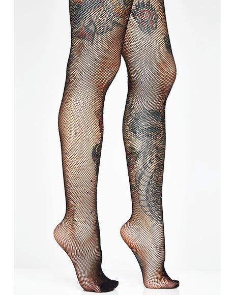 Stay Shinin' Sis Fishnet Tights