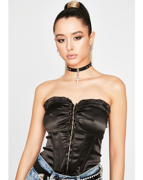 Pick Ur Poison Satin Corset
