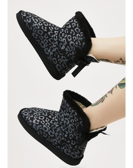 Onyx Wild Spots Slipper Boots