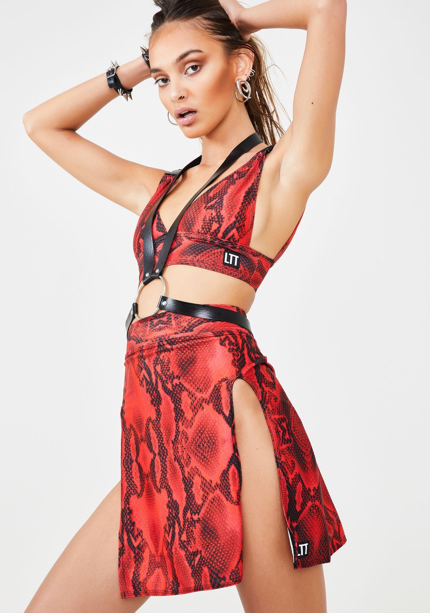 LOVE TOO TRUE Snake Me Rebel Skirt